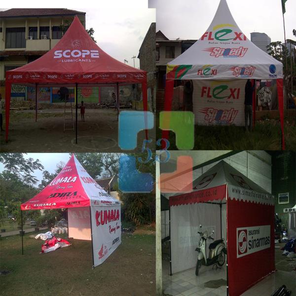 Tenda Promosi , Tenda Sarnafil , Tenda Kerucut Full Printing